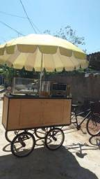 Food bike com forno e ombrelone