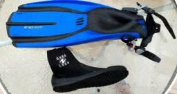 Nadadeira Mergulho Avanti X - 3 E Bota Aqualung perfeita!