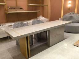 Mesa bancada de porcelanato especial para escritorios