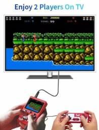$85 Míni Game com controle 400 jogos/recarregável