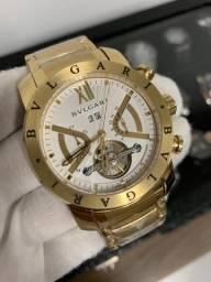 4719b91b33b Relógio Bvlgari Iron Man automático. até 10x sem juros