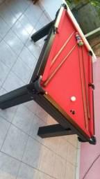 Mesa Tentação de 4 Pés Cor Tabaco Tecido Vermelho Mod. DBAB3471