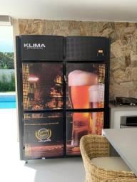 Cervejeira 4 Portas Capacidade para 22 Caixas de Garrafas 600ml Klima