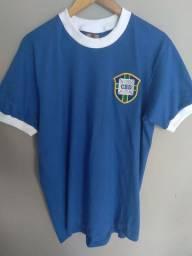 Camisa retrô Seleção Brasileira G (1970) - Ganem Sports