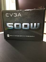 Fonte EVGA 500W 80 plus