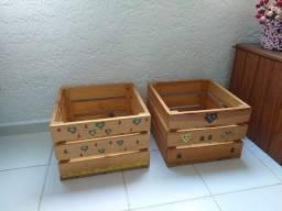 """Caixa organizadora , em madeira-R$120,00 """" as duas juntas """" LEIA O ANUNCIO'<br><br>"""