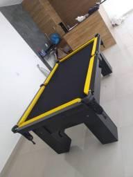 Mesa de Bilhar Charme Preta Tx Tecido Preto Modelo JHG6403