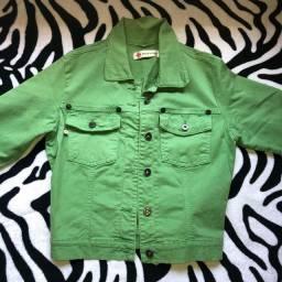 Jaqueta jeans verde