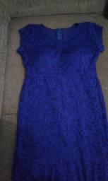 Vestido de renda de festa - ótimo estado de conservação