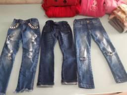 Calça jeans 3,4