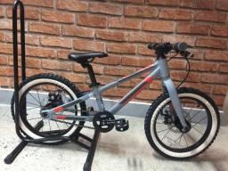 Bicicleta infantil aro 16 Sense Impact 16 2020 - cinza/vermelho