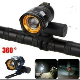 Lanterna LED T6 recarregável pra bike apenas RS 90.00