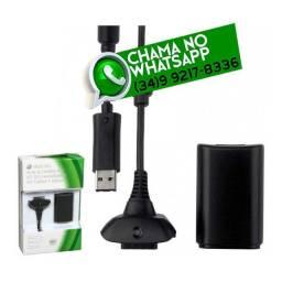 Entrega Grátis * Carregador + Bateria para Controle de Xbox 360 Slim * Chame no Whats