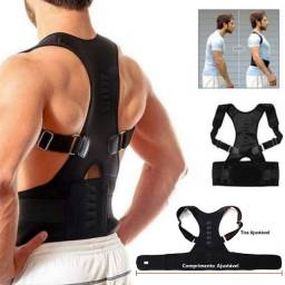 Cinta colete corretor postural coluna lombar unissex reforçada real doctors