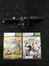 2 jogos originais e Kinect Para xbox360