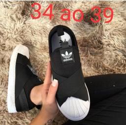 Tênis Adidas Slip On Black White