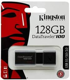 Pendrive Kingston DataTraveler 100 G3 128GB preto