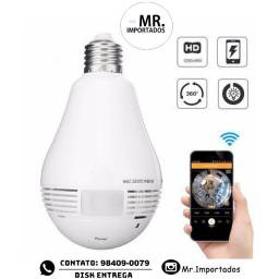 Lampada Camera Espiã Ip Led Wifi Hd Panorâmica 360º (entregamos)