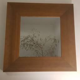Espelho em madeira Tok&Stok