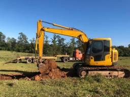 Escavadeira komatsu pc138
