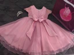 Vestido de festa infantil - para 6 anos de idade