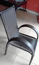 Cadeiras Individuais na Fibra Para Jardim Piscina Area Gourmet Sacada Varanda