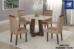 Conjunto Sala De Jantar Madeira Maciça #FreteGRÁTIS* #Garantia #Lacrado