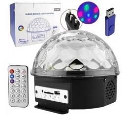 Globo mágico de luz Com som Bluetooth, Pendrive e controle
