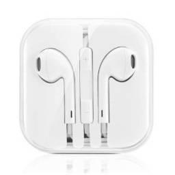 Fone de ouvido branco com fio ótimo som e qualidade garantida