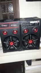 Caixa de som amplificada trc 300w venda ou troca leia a descricao