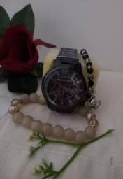 Relógio feminino MK + brinde