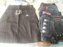 Lote de saias jeans