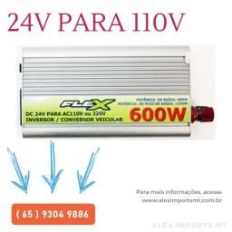 Inversor Flex 24v 110v 600w Pronta Entrega Conversor 24 para 110 Caminhão ou Onibus