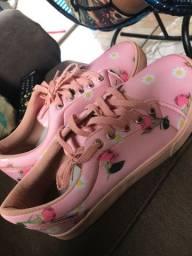 Sapato florido Bruance
