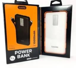 (NOVO)Bateria Externa Basike 10000mah 3 Em 1