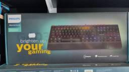 Teclado gamer mecânico philips spk8403