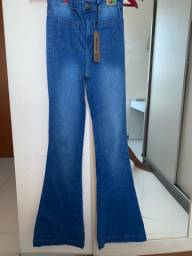 Calça flare ( boca de sino) jeans