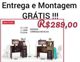 Mesa Studio /com rodinhas |Mega Oferta