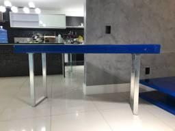 Conjunto de rack e centro - cor azul