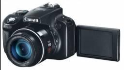 Camera canon semi profissional e tripé