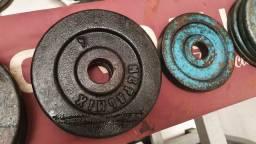 110kg em anilhas de ferro