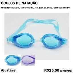 Óculos de Natação com Fita de Silicone