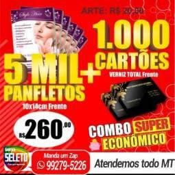 Combo 5000 panfletos 260,00 ganha 1000 cartões