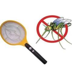 (NOVO)Raquete Elétrica Mata Mosquito Dengue Insetos Recarregável