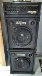 Cabeçote amplificador e caixas Wattson Ciclotron