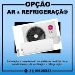 Instalação de ar condicionado e manutenção de equipamentos de em geral.