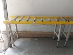 Mesa de rolete para marcenaria