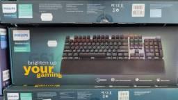 Teclado gamer mecânico philips spk8614