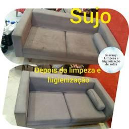 Limpeza e higienização de sofá