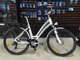 Bicicleta Elétrica Itawin prestige - branco/cinza